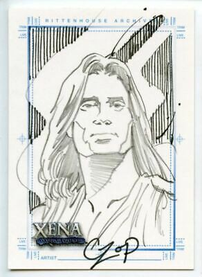 Xena Art & Images Sketch Card by John Czop Hercules with Stripes