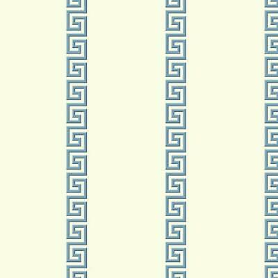 York Wallcoverings AF1962 Ashford Toiles Acropolis Stripe Wallpaper Blue/White