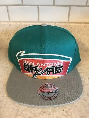 the best attitude da9af d2d1a Mitchell   Ness San Antonio Spurs Turquoise Green Pink Orange Snapback Hat  New