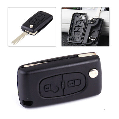 2 Buttons Flip Remote Key Case Shell Fob CE0536 for PEUGEOT 207 307 308 407 New