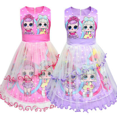 UK Lol Surprise Doll Kids Birthday Cocktail Party Dresses Girls Princess Dress