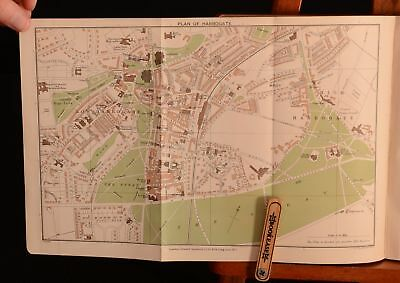 1904 Handbook for Yorkshire Fourth Edition Folding Maps Coloured Plates