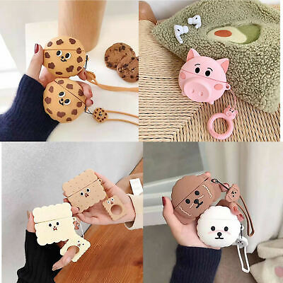 Airpods Case Cover Cute Cartoon Silicone For Apple Airpods Charging Accessories