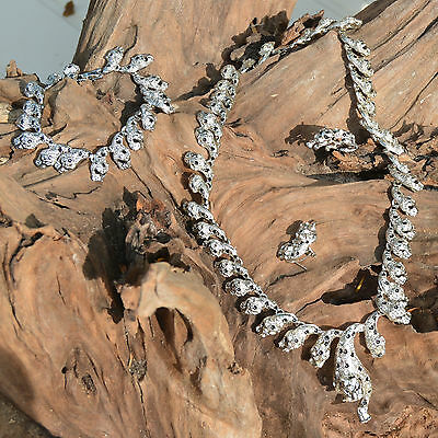 fe40b5f4372b0 Parure COLLIER Femme SAUTOIR CHAINE panthere argent STRASS ZAZA2CATS new