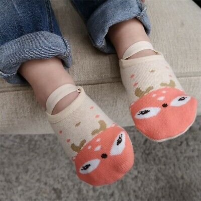Toddler Non-Slip Boot Socks Kids Baby Cartoon Warm Shoes Anti-slip Slipper Socks