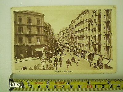 Old Napoli Postcard 1926 from Munchen to Latvia Riga Deutches Reich Stamps *1274