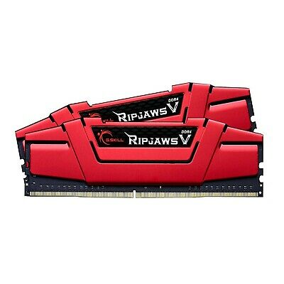 G.Skill 16GB 2x8 CL15 DDR4 3000MHz Ripjaws V Red Gaming Desktop Memory RAM