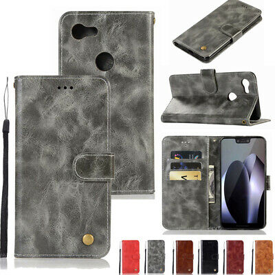 For Google Pixel 2/2XL 3/3XL Retro Magnetic Flip Leather Wallet Stand Case Cover