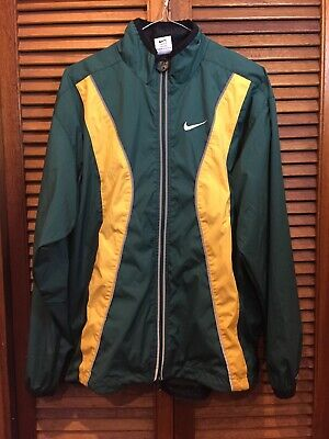 Vintage NIKE AUSTRALIA TRACK JACKET Size Small Green and Gold Clima-fit