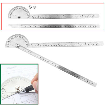 1 x Stainless Steel 180 degree Protractor Angle Finder Arm Measuring Ruler Tool