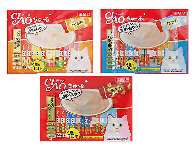 [INABA] CIAO Churu Cat Food Lick Snacks Variety Mix 14g X 40ea Chicken Tuna