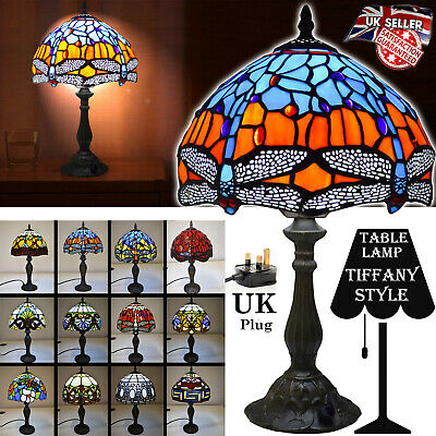"New TIFFANY Floor Lamp Antique Style Hand crafted 16"" shade Lamp Bed/Living Room"
