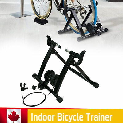 Indoor Bike Bicycle Trainer Stand Exercise Support Home Workout Training Black