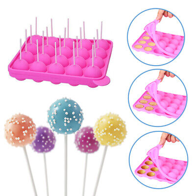 Silicone Lollipop Cupcake Baking Mold Tray Pop Cake Stick Mould Baking Tools