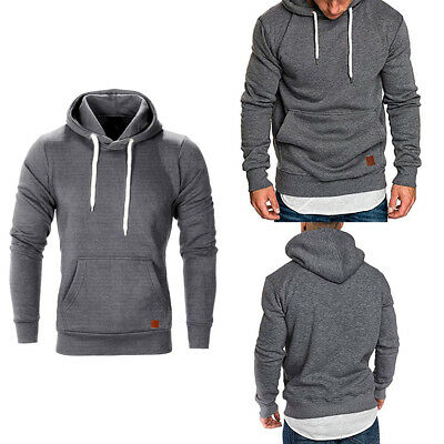 Mens Winter Hoodies Sweatshirt Sweater Jumper Outwear Coat Jacket Hooded Tops AU