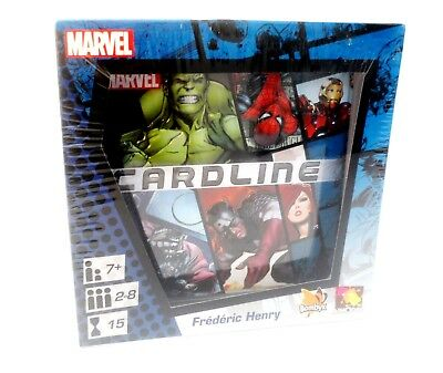 ASMODEE- Marvel Cardline Card Game Superheroes Supervillians- New Factory Sealed