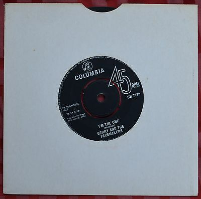 "Gerry And The Pacemakers – I'm The One 7"" Single – Very Good"