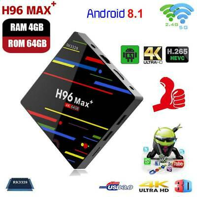 H96 Pro MAX+ 4GB 64GB Android 8.1 TV Box K18.0 HD Smart Network Media Player