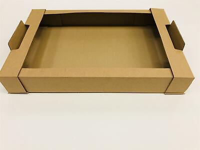 "Pack of 25 30/"" X 18/"" X 3/"" Large Brown Cardboard Delivery Tray"
