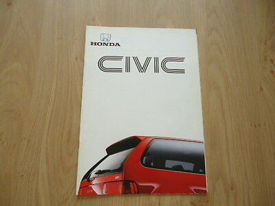 Honda Civic Brochure / Prospekt 1987