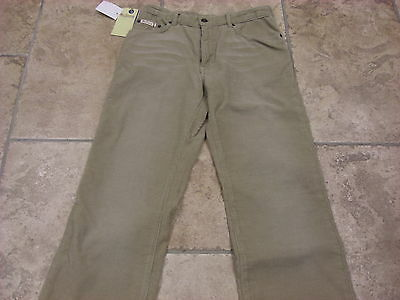 "Bnwt Boys Ben Sherman Cream Distressed Wash Bootcut Cords  Waist 27""  Leg R"