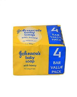 Johnson's Baby Soap Honey With Baby Oil 4 x 100g Value Pack