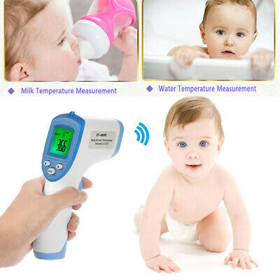 UK Body Skin LCD Digital Non-contact Infrared IR Thermometer For Baby Kid Adult