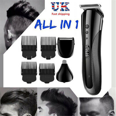 Electric Hair Clipper Beard Shaver Grooming Cordless Razor Nose Trimmer UK Plug