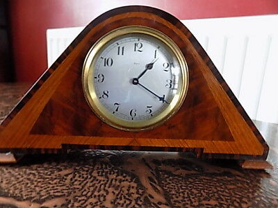 vintage french bayard 8 day mantle  clock lever movement  working inlayed