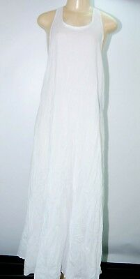 bcbfd8c5ee6 Victoria s Secret MIKOH Swimwear Cover up Maxi dress White Racer Back Linen  2