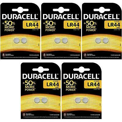 10 x Duracell LR44 1.5V Alkaline Button Cell Battery - A76 AG13 357 V13GA Hexbug