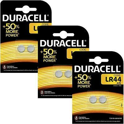 6 x Duracell LR44 1.5V Alkaline Button Cell Battery - A76 AG13 357 V13GA Hexbug