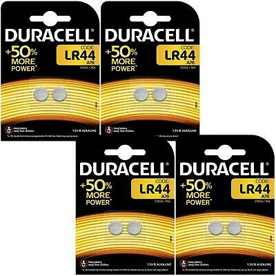8 x Duracell LR44 1.5V Alkaline Button Cell Battery - A76 AG13 357 V13GA Hexbug