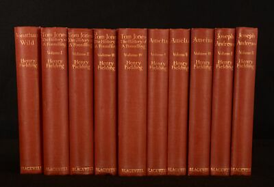 1926 4vols in 10 Shakespeare Head Edition of Fielding's Novels Limited Edition