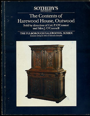 """Sotheby's Auction Catalogue """"HAREWOOD HOUSE"""" Surrey Country House Sale 1994"""