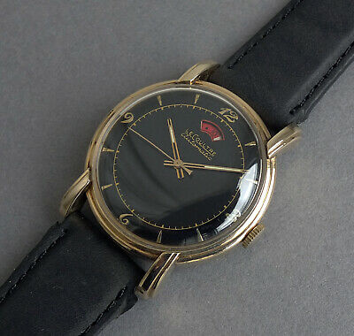 JAEGER LECOULTRE POWERMATIC 10K Gold Filled Vintage Automatic Watch 1950