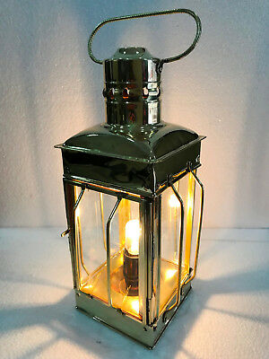 Vintage Brass Electric Lamp Maritime Ship Lantern Boat Light Decorative 12""