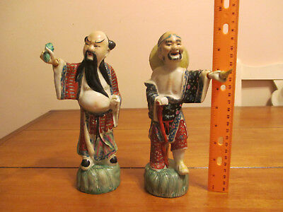 Antique Chinese Porcelain Figurine of Man, Immortals, Gods, Wisemen Statues