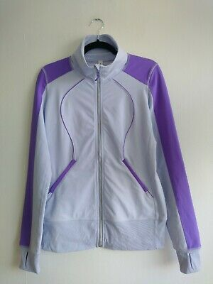 Lululemon Lilac Purple Full Zip Track Running Jacket Size UK 12 US 8 Sweater Top