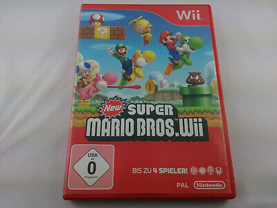 New Super Mario Bros. Wii Nintendo Wii 2009 DVD Box PAL Spiel Game