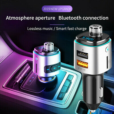 Bluetooth 4.2 Car USB Charger FM Transmitter Wireless Radio Adapter MP3 Player