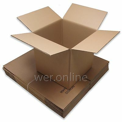 Extra Strong 20 x 13 x 12'' Removal Packing Cardboard Boxes Sturdy Double Wall