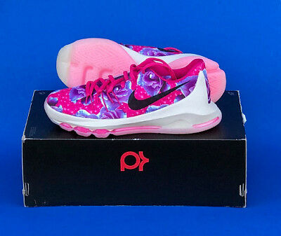 5e1dc2f56a02 Youth Nike Kd 8 Aunt Pearl Premium Basketball Shoes   Size 5   Multi-Color