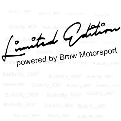 BMW Limited Edition Powered By Motorsport Aufkleber Sticker Limited Edition.