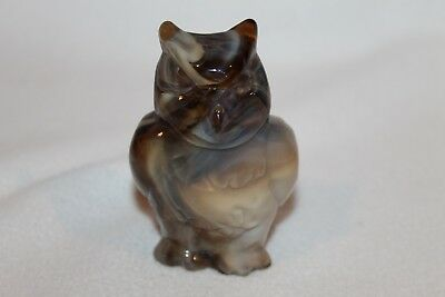 Imperial Caramel Brown Slag Glass OWL Figurine - MINT CONDITION