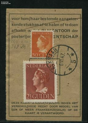 Netherlands 1947 2.5gld on postbox card snes!347