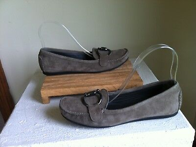 22c193f7fe6 STUART WEITZMAN LOAFERS Perforated 7.5M Suede Leather SF2 -  15.99 ...