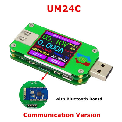 RD UM24C USB 2.0 Tester Volts Amps Watts AmpHours WattHours .... With Bluetooth