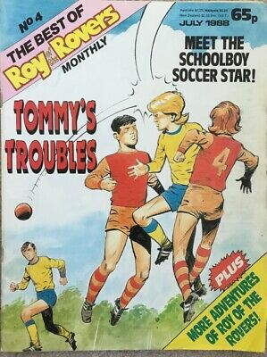 THE BEST OF ROY OF THE ROVERS MONTHLY No 4 July 1988 Roy Race Tommy's Troubles