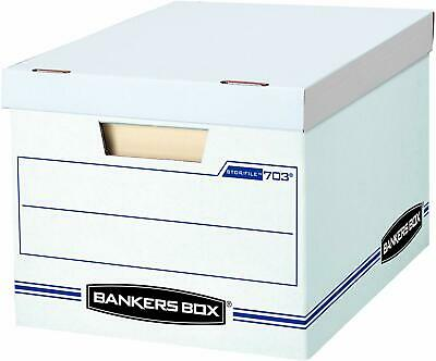 Bankers Box Stor File Storage Box with Lift Off Lid White Letter Legal